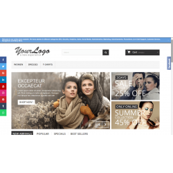 PrestaShop Social Media like Floating Sidebar on Left and Right Side of the Home Page