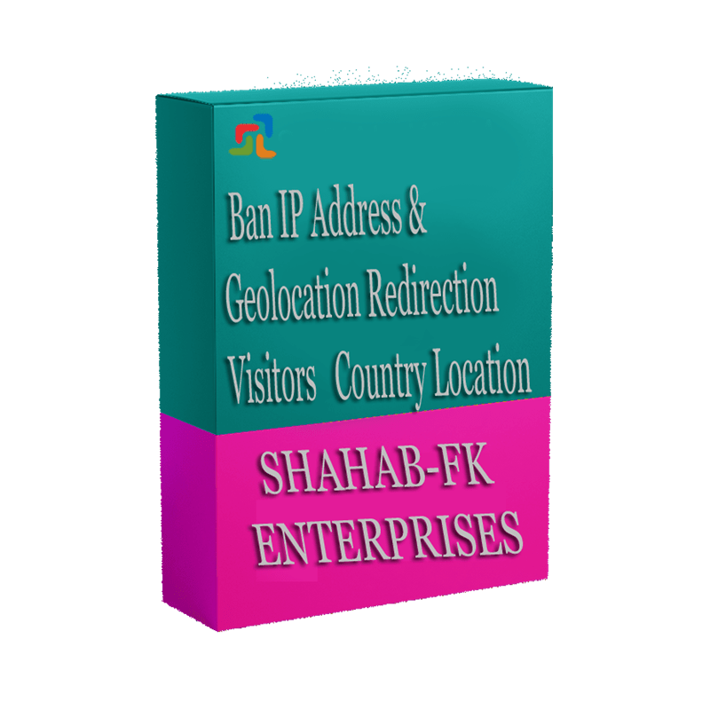 PrestaShop Ban IP Address and Geolocation Redirect Visitor Country - 1
